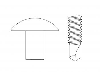 大扁頭 鑽尾螺絲