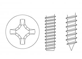 十字 鐵板牙