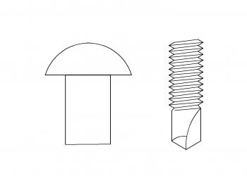 丸頭 鑽尾螺絲